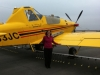 Aviation Expo 2012: Susan standing by Jeff's bird